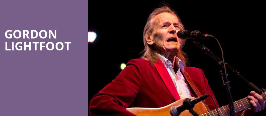 Gordon Lightfoot, Miller Auditorium, Kalamazoo